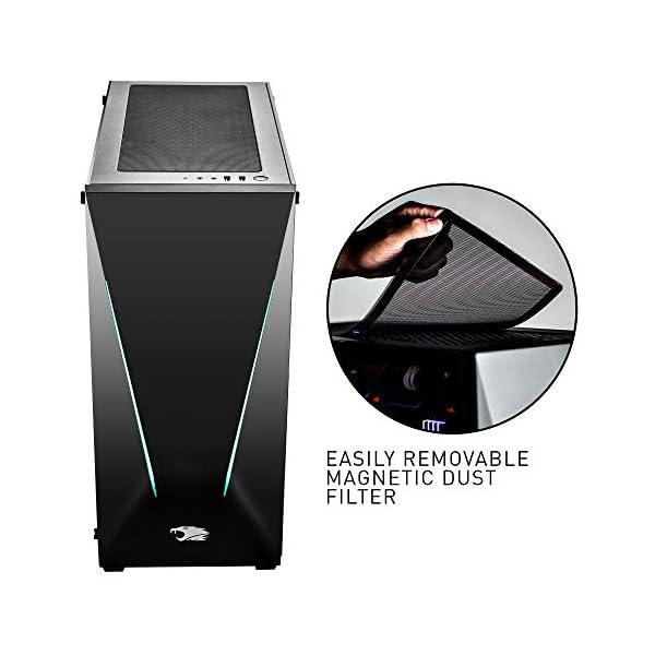 iBUYPOWER Pro Gaming PC Computer Desktop Slate2Pro 111A (AMD Ryzen 7 3700X 3.6GHz, NVIDIA Geforce RTX 2060 Super 8GB, 16GB DDR4 RAM, 2TB HDD, 240GB SSD, WiFi Included, Win 10 Home, VR Ready) Black 3