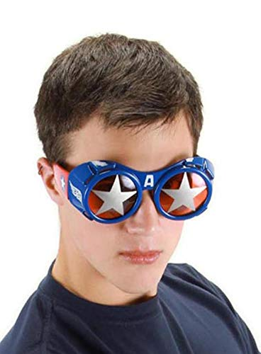 elope Marvel Men's Captain America Goggle Glasses, Red/Silver/Blue, One -