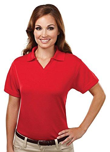 - Tri-Mountain Women's 7.7 oz. 100% Spun Polyester Micromesh Polo Shirt - 104 Ambition Red