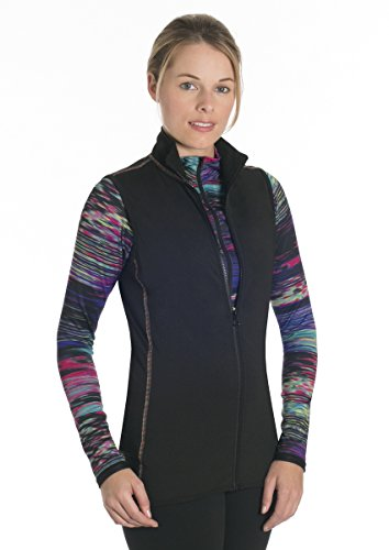 Snow Angel Women's Chami Aurora Vest, Black, (Aurora Vest)