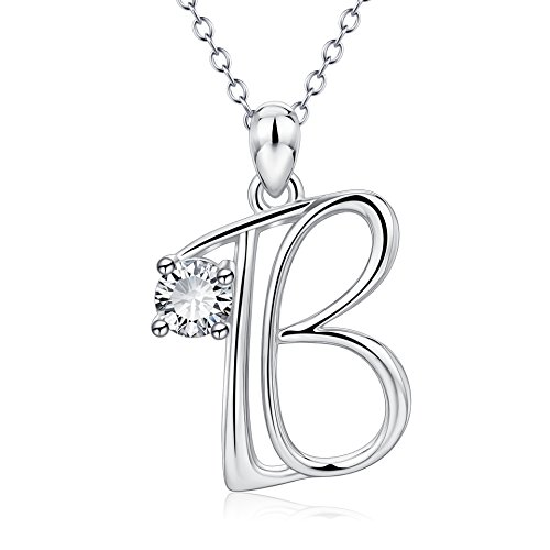 - YFN Initial Necklace 925 Sterling Silver Letter B Alphabet Pendant Necklace Jewelry Gifts for Women Teen Girls