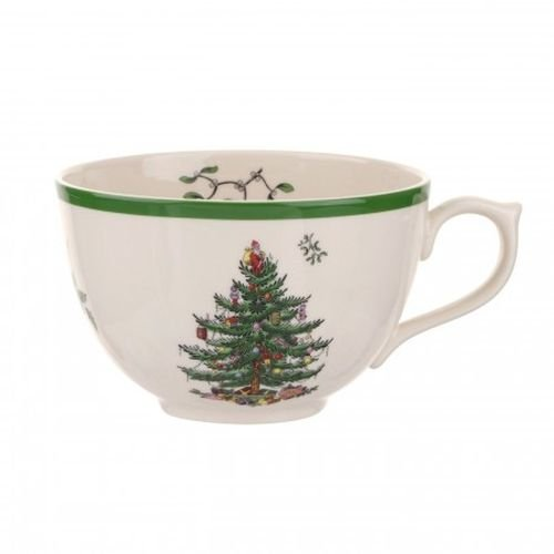 Spode Christmas Tree Jumbo Cup with Lid (Cup Porcelain Jumbo)