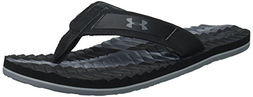 Under Armour Men's Marathon Key III Flip-Flop, Black /Overca