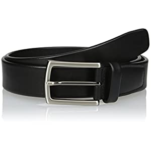 Perry Ellis Mens Tubular Belt, Black, 34