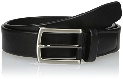 (Perry Ellis Men's Tubular Dress Belt, Black, 42)