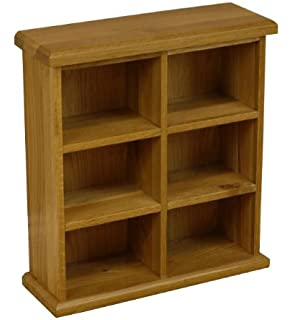 Oakland   Chunky Oak CD DVD Storage Unit/Small Wide Double Shelved Unit