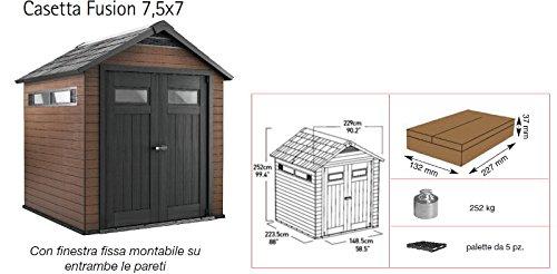 Hobbystore - Caseta de jardín - Línea Fusion 757 de Keter: Amazon.es: Jardín