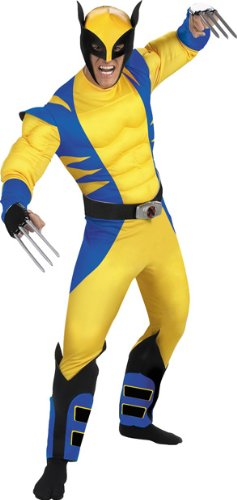 Wolverine Origins Classic Muscle Costume - X-Large - Chest Size 42-46 (Wolverine Muscle Costume)