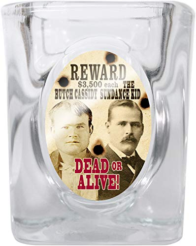 Western Wanted Poster Shot Glass (Butch Cassidy & Sundance Kid)