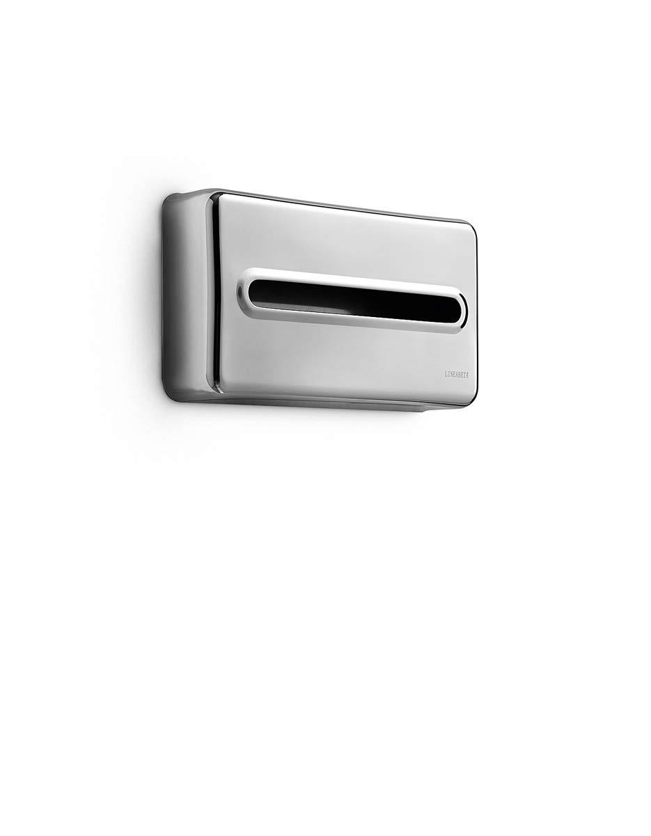 Lineabeta 53291.29 Porta Fazzoletti Serie Otel, Inox/Lucido, 275 X 150 X 60 Cm