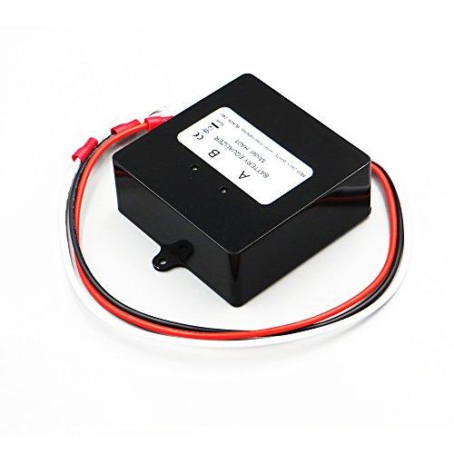 DPJ Batteries Voltage Equalizer Balancer For 2 x 12V Lead Acid Battery Charger Regulators Connected Series Solar Panels Cell by DPJ