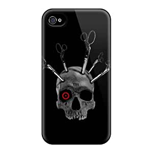 Protective Tpu Case With Fashion Design For Iphone 4/4s (gothic Skull)