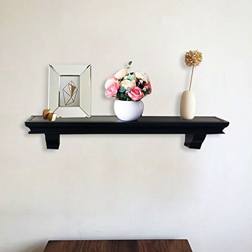 Shelving Solution Set Of 2 Floating Wall Shelf Black