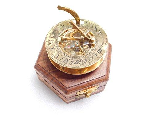 (Meridian Nauticals brass Sundial compass maritime nautical vintage antique item)