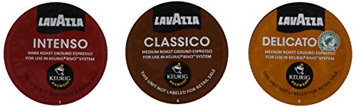 30 Count - Lavazza Sampler Pack for Keurig Rivo (3 Flavors, 10 Pods Each) *No (Pod Sampler)