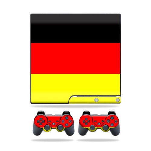 MightySkins Protective Vinyl Skin Decal Cover for Sony Playstation 3 PS3 Slim skins + 2 Controller skins Sticker German Flag by MightySkins (Image #3)