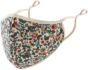 Adulto FaceMask Funda reutilizable lavable de algodón con estampado floral para mujeres Hombres Trabajo