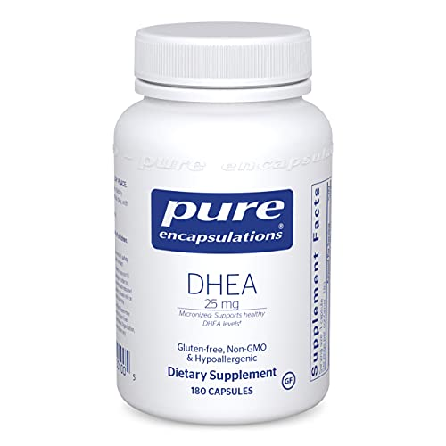 Pure Encapsulations DHEA 25 mg | Supplement for Immune Support, Fat Burning, Hormone Balance, and Emotional Wellness…