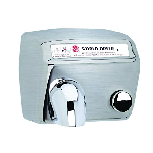Model A Durable Hand Dryer Finish: Brushed Stainless Steel, Voltage: 110-120 V, 15 Amps