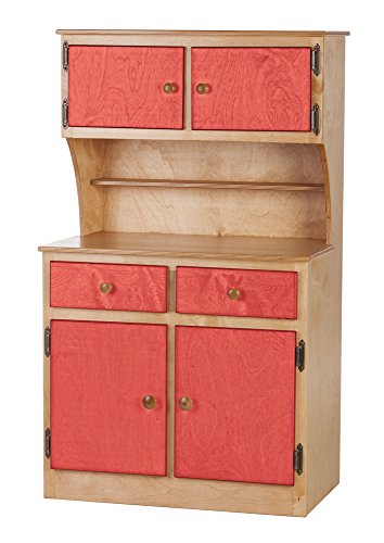 Children's Kitchen Play Hutch -Heartland Collection - Natural and Red (Heartland Kitchen Appliances)