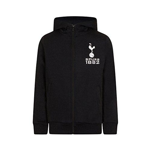 Tottenham Hotspur FC Official Gift Boys Fleece Zip Hoody Black 10-11 Years (Shirt Hotspur Away Tottenham)