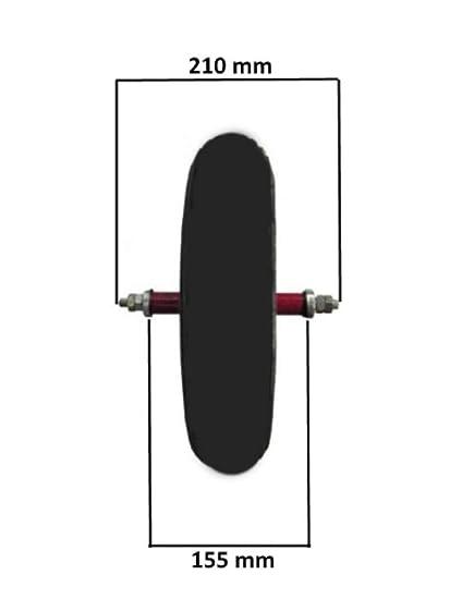 Union Rueda neumática Completa 3,50-8 (4pr) de Repuesto para Carretilla Modelo Vespa Eje Largo 155 mm Goma