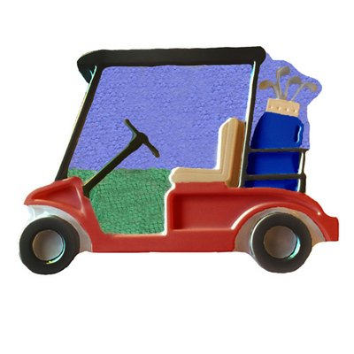 GOLF CART Plastic Cake making pan (Golf Cookie Cake)