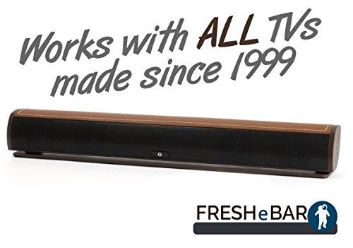 Bluetooth Leather Television Sound Bar - FRESHeBAR TV - Optical Surround Sound System