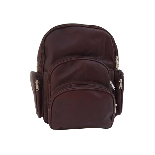 (Piel Leather Expandable Backpack, Chocolate, One Size)