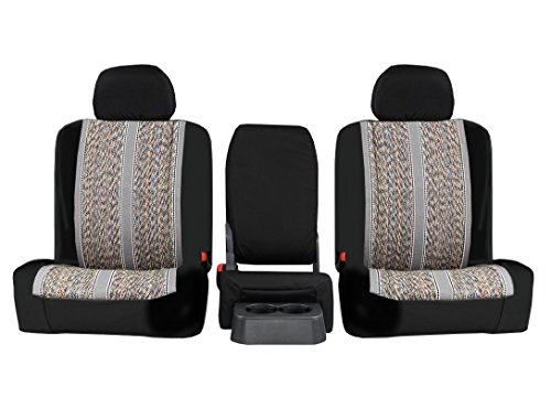 Rear SEAT: ShearComfort Custom Saddle Blanket Seat Covers for Toyota Tacoma (2016-2019) in Sport Gray for 40/60 Split Back and...