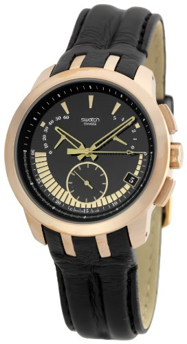 Swatch Men's STYRG400 SS2008 Black Dial Watch