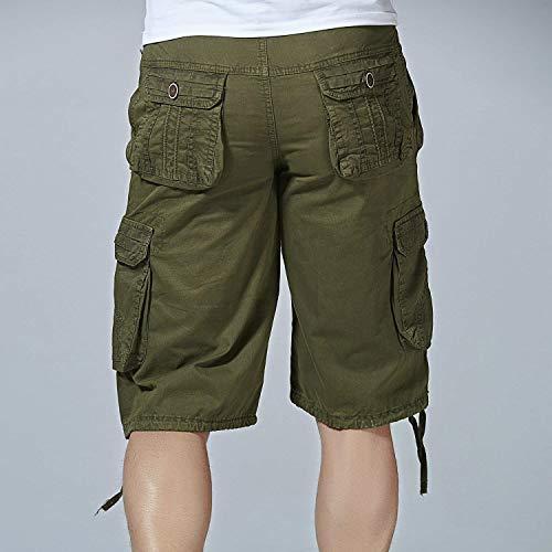 Fashion Corti Armeegrün Da Pantaloni Moderna Uomo Jeans Casual Con Twill tasca Pantaloncini Cargo Ufige Outdoor Haidean Multi Bermuda Wear 1aAqUxIa