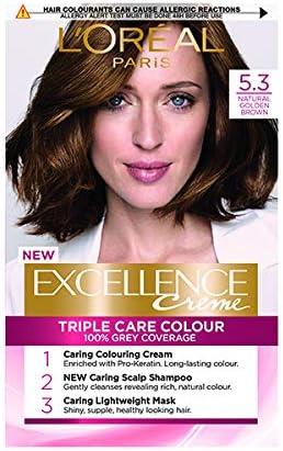 LOreal Excelence 5.3 Tinte permanente para el cabello marrón dorado natural