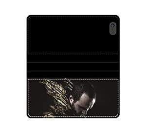 Alas, Glamorous con protector de pantalla para que se funda con tapa y tarjetero Golden Feathers con tarjeteros y compartimento para billetes iPhone 4 4S 5 5S 6 6S/Samsung S3 S4 S5