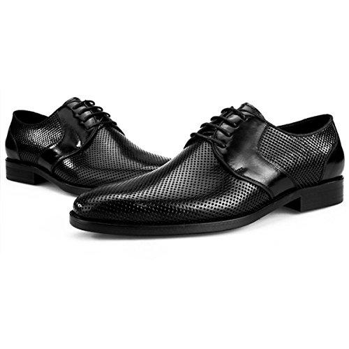 Marroni Britanniche Maschili Traforata Estive Casual Pelle da Pelle Uomo Black Scarpe in in DKFJKI Traspiranti Scarpe Scarpe Sandali Estive Scarpe Business SFq0YUwtxH