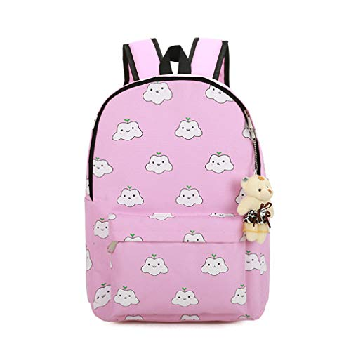 Backpacks Printing Canvas Cute L30cm Gray Bookbag H44cm SES W14cm Backpack Green 4Pcs UwqpxtEBW