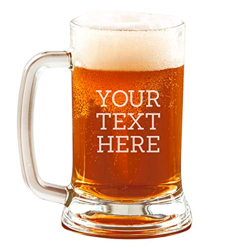 Personalized Etched Custom 16oz Beer Mug