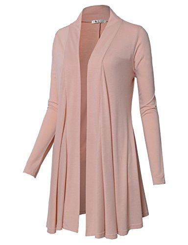 Short Sleeve Ruffle Cardigan (H2H Women's Short Sleeve Light Weight Open Front Cardigan INDIPINK US XL/Asia XL (CWOCAL072))
