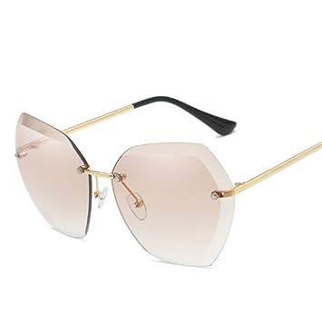WJP Gafas de Sol de anteojos, Gafas de Sol sin Montura ...