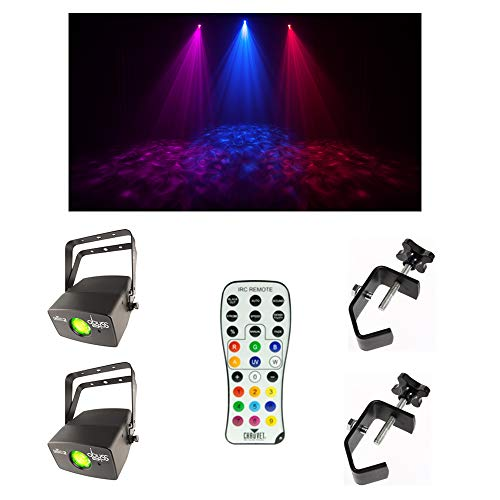 (2) Chauvet DJ Lighting Abyss USB Simulated Effect Water Light w/Remote & Clamp