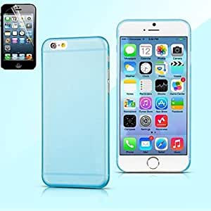 QJM Transparent Solid Color 0.5mm Ultra Thin Frosted Soft for iPhone 6 (Assorted Color) , Purple