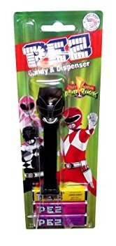 Mighty Morphin Power Rangers Pez with Candy Refills Black (Power Rangers Outfit)