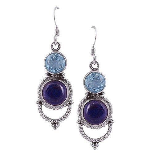 Blue Topaz And lapis Stone Dangle ()
