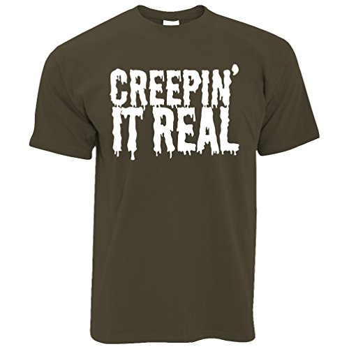 Halloween Shirt Khaki Creepin' Funny Real Tim And Ted Joke T It wCBqt1q
