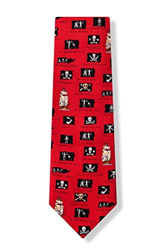 Alynn Novelty Red Silk Ties - 8
