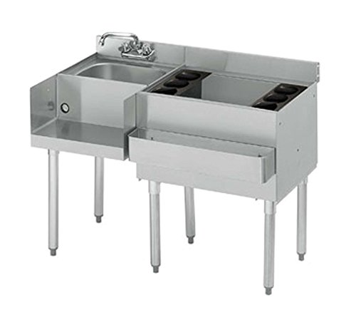 Krowne 21-W48R-7 - 2100 48'' Blender/Ice Bin Station with Cold Plate Bin on Right by Krowne