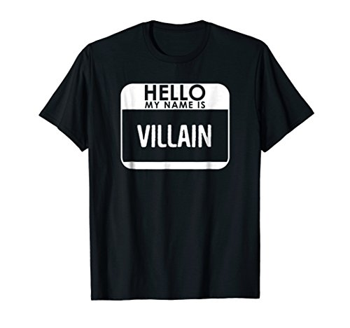 Villain Costume T-Shirt Funny Easy Halloween Outfit -