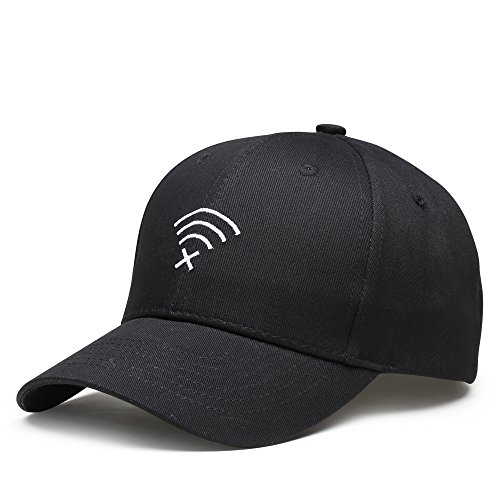 LvLoFit Baseball Caps for Men/Women 6 Panel Trucker Sports Cap Hats Size Adjustable (Black) by LvLoFit