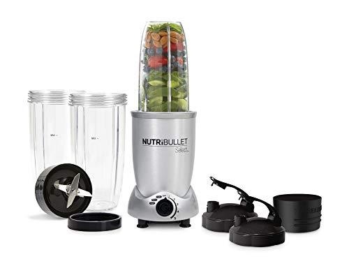 NutriBullet N9C-0928 – Extractor de Nutrientes, con recetario en español, base motor de 1000 W, 4.000 – 20.000 rpms, 1 solo botón, 5 velocidades variables, paro automático 60 segundos, color Silver