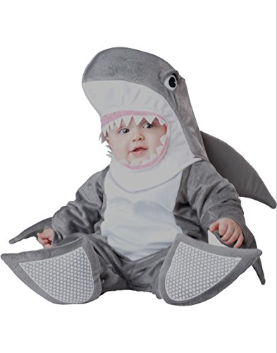 InCharacter Costumes Baby's Silly Shark Costume, Grey/White, Large(18M-2T)
